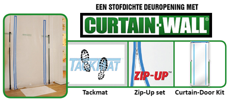 Curtain Door Kit Zip Up Set En Tackmat Primaverde