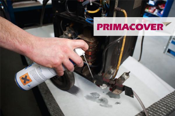 PrimaCover Absorb - afdekvlies onderhoud techniek bescherming oplosmiddel olie ondergrond