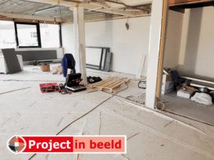 PrimaCover Standard renovatie kantoren - Tijdens verbouwing